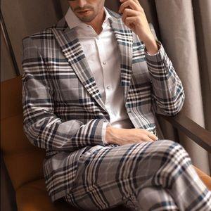 Zara plaid blazer men size 38